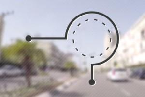 איך פונים שמאלה במעגל תנועה דו נתיבי